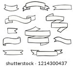 set of hand drawn doodle banner ... | Shutterstock .eps vector #1214300437