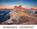 dolomites. landscape image of... | Shutterstock . vector #1214301427