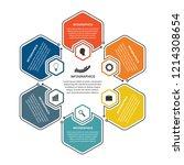 hexagon options infographics...   Shutterstock .eps vector #1214308654