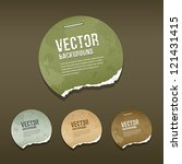 vintage ripped label circle... | Shutterstock .eps vector #121431415