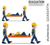 two workers is moving  the... | Shutterstock .eps vector #1214314774