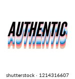 authentic slogan with gold... | Shutterstock .eps vector #1214316607