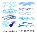 some wave motions | Shutterstock .eps vector #1214339374