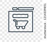 web shop concept vector linear...
