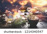home holidays cuisine and sweet ... | Shutterstock . vector #1214340547