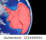 antarctica on planet earth with ...   Shutterstock . vector #1214340931