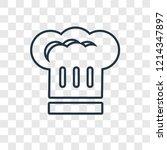 chef hat concept vector linear...   Shutterstock .eps vector #1214347897