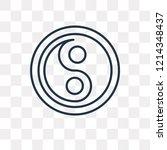 yin yang vector outline icon... | Shutterstock .eps vector #1214348437