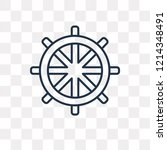 buddhism vector outline icon...   Shutterstock .eps vector #1214348491