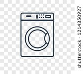 washing machine concept vector... | Shutterstock .eps vector #1214350927