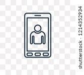 tablet vector outline icon... | Shutterstock .eps vector #1214352934