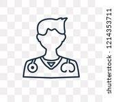 doctor vector outline icon... | Shutterstock .eps vector #1214353711