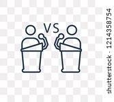 debate vector outline icon... | Shutterstock .eps vector #1214358754