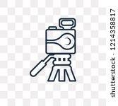 photograph vector outline icon... | Shutterstock .eps vector #1214358817