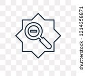 zoom out vector outline icon... | Shutterstock .eps vector #1214358871