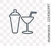 shaker vector outline icon... | Shutterstock .eps vector #1214361997