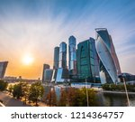panoramic view of moscow city... | Shutterstock . vector #1214364757