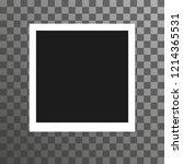 old photo similar to polaroid ... | Shutterstock .eps vector #1214365531