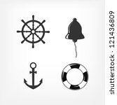 set of nautical icons | Shutterstock .eps vector #121436809