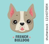 vector icon puppy french... | Shutterstock .eps vector #1214375854