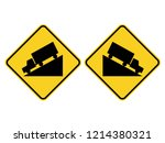 isolated up and down hill road...   Shutterstock .eps vector #1214380321