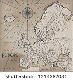 old  fantasy themed europe... | Shutterstock .eps vector #1214382031