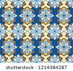 geometric seamless pattern....   Shutterstock .eps vector #1214384287