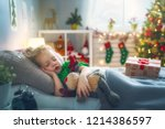 merry christmas and happy... | Shutterstock . vector #1214386597