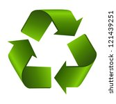 recycle sign or symbol isolated ... | Shutterstock .eps vector #121439251
