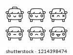 car emoji  car face character... | Shutterstock .eps vector #1214398474