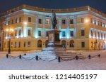 odessa  ukraine.  23 december... | Shutterstock . vector #1214405197