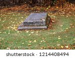 a grave at st albans cathedral... | Shutterstock . vector #1214408494