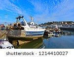 brixham  devon   england   10... | Shutterstock . vector #1214410027