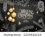 merry christmas and happy new... | Shutterstock .eps vector #1214416114