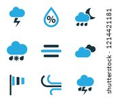 air icons colored set with... | Shutterstock .eps vector #1214421181