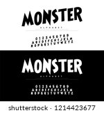 monster cartoon alphabet scary... | Shutterstock .eps vector #1214423677