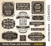 calligraphic element border... | Shutterstock .eps vector #121442431