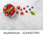 Fresh Raw Organic Berries In...