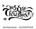 merry christmas text... | Shutterstock .eps vector #1214429164