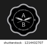 beer artisan craft white on...   Shutterstock .eps vector #1214432707