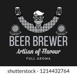 beer brewer full aroma white on ... | Shutterstock .eps vector #1214432764
