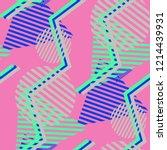 seamless pop art background.... | Shutterstock .eps vector #1214439931