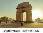 india gate  new delhi  india ... | Shutterstock . vector #1214450437