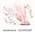 vector free hand illustration... | Shutterstock .eps vector #1214451007