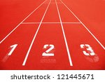 Race Track With The Numbers.