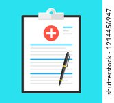 medical form  health insurance. ... | Shutterstock .eps vector #1214456947