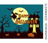 vector for halloween. this year ... | Shutterstock .eps vector #1214464171