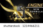 engine oil advertisement... | Shutterstock .eps vector #1214466211