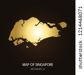 gold map of singapore singapore ... | Shutterstock .eps vector #1214468071
