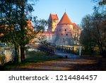 morning trakai castle | Shutterstock . vector #1214484457
